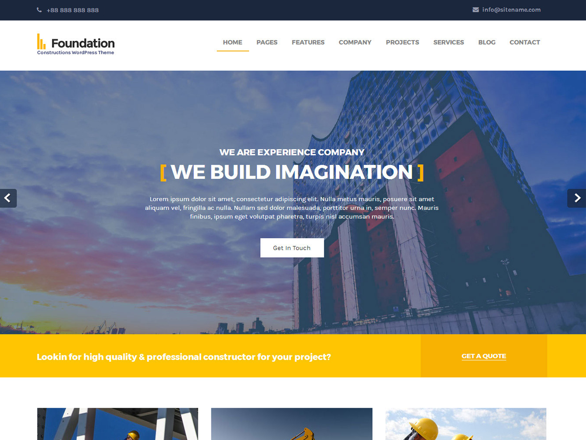 Foundations Preview Wordpress Theme - Rating, Reviews, Preview, Demo & Download