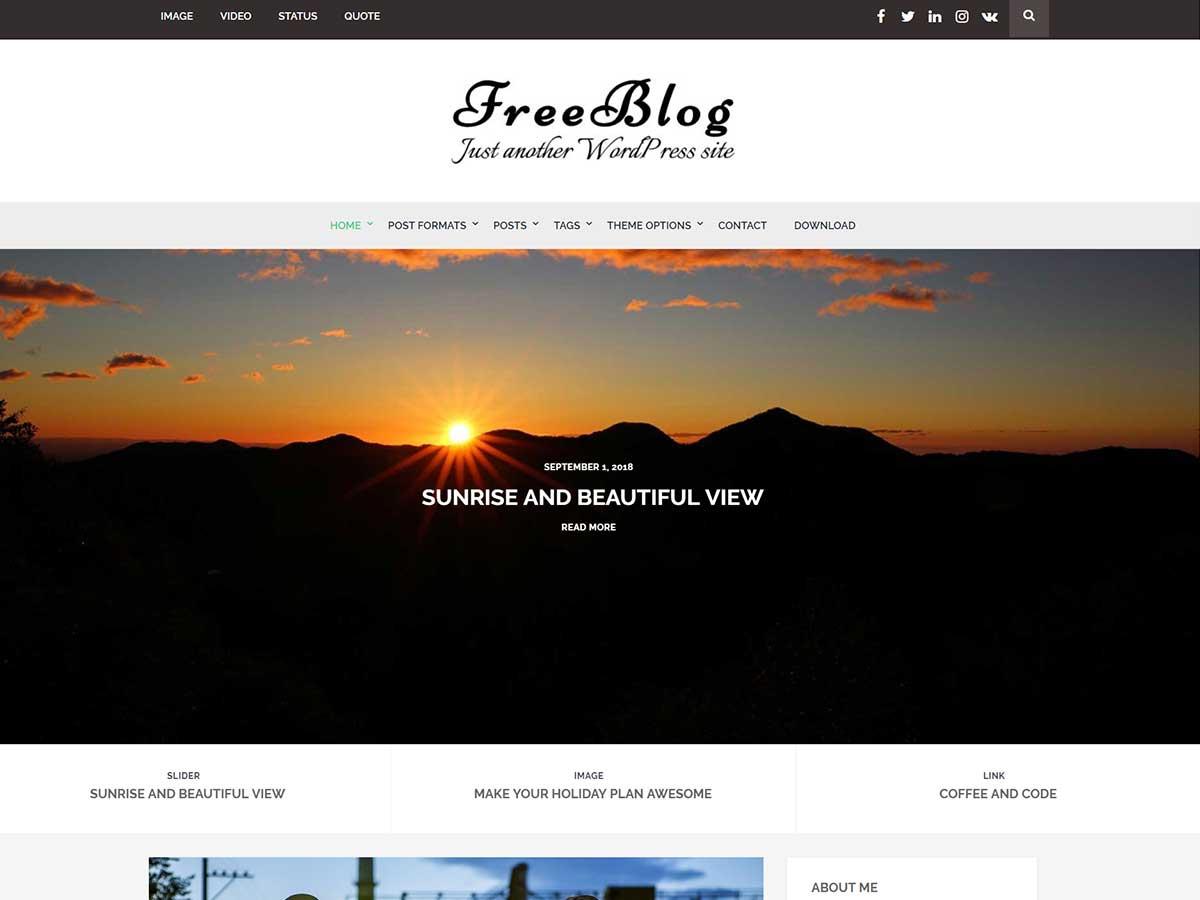 Free Blog Preview Wordpress Theme - Rating, Reviews, Preview, Demo & Download