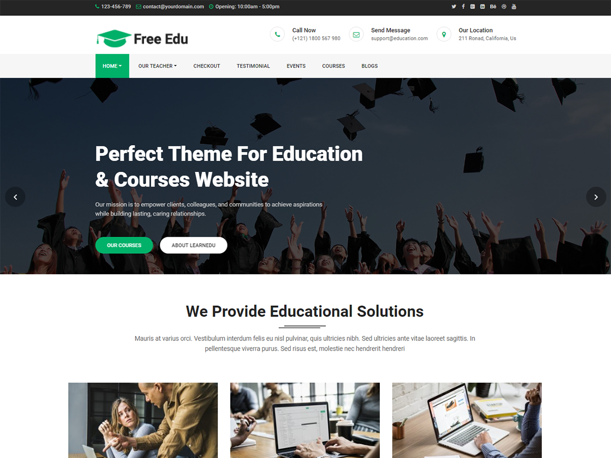 Free Education Preview Wordpress Theme - Rating, Reviews, Preview, Demo & Download