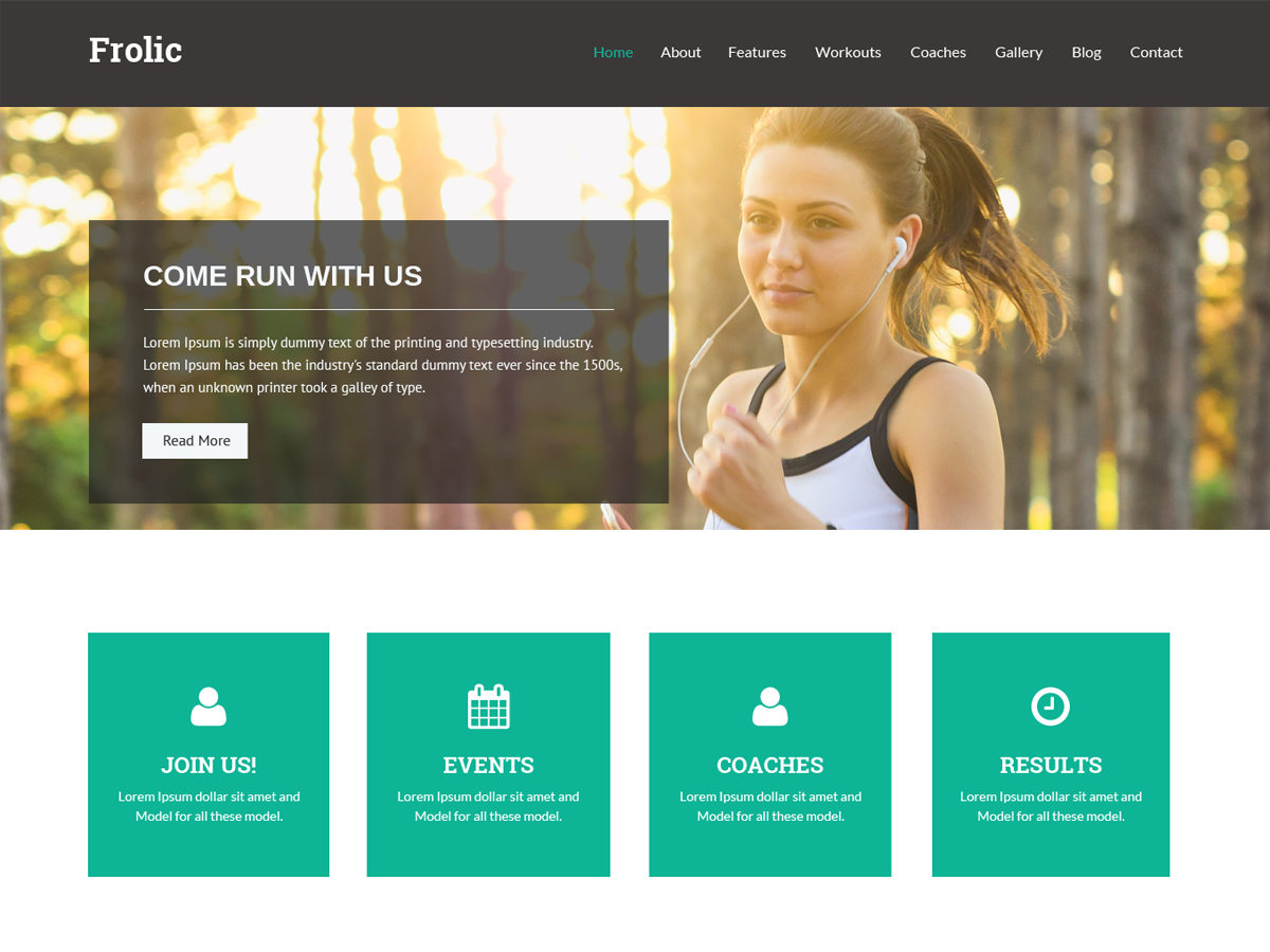 Frolic Preview Wordpress Theme - Rating, Reviews, Preview, Demo & Download