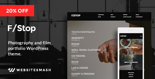 FStop Preview Wordpress Theme - Rating, Reviews, Preview, Demo & Download