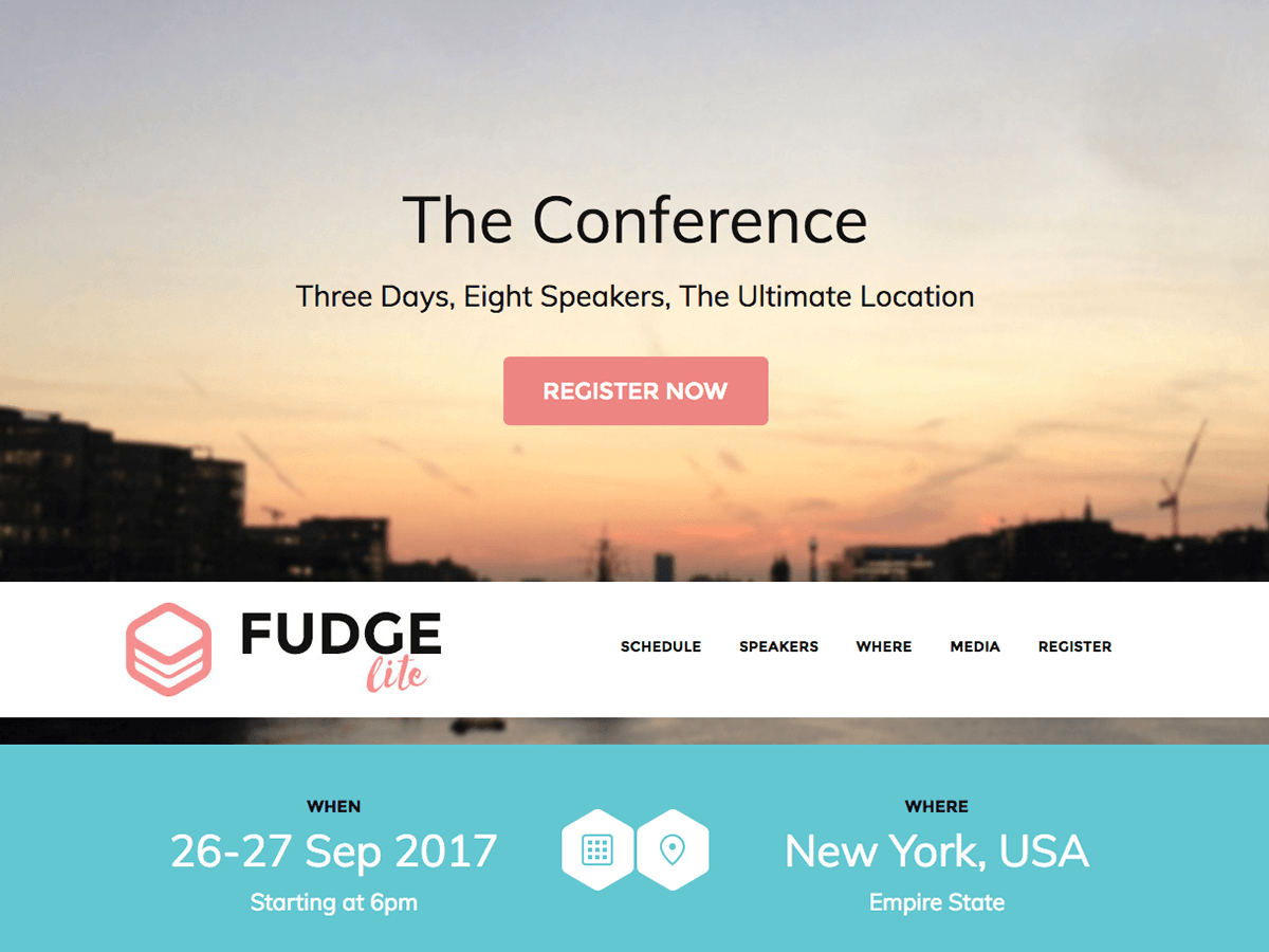Fudge Lite Preview Wordpress Theme - Rating, Reviews, Preview, Demo & Download