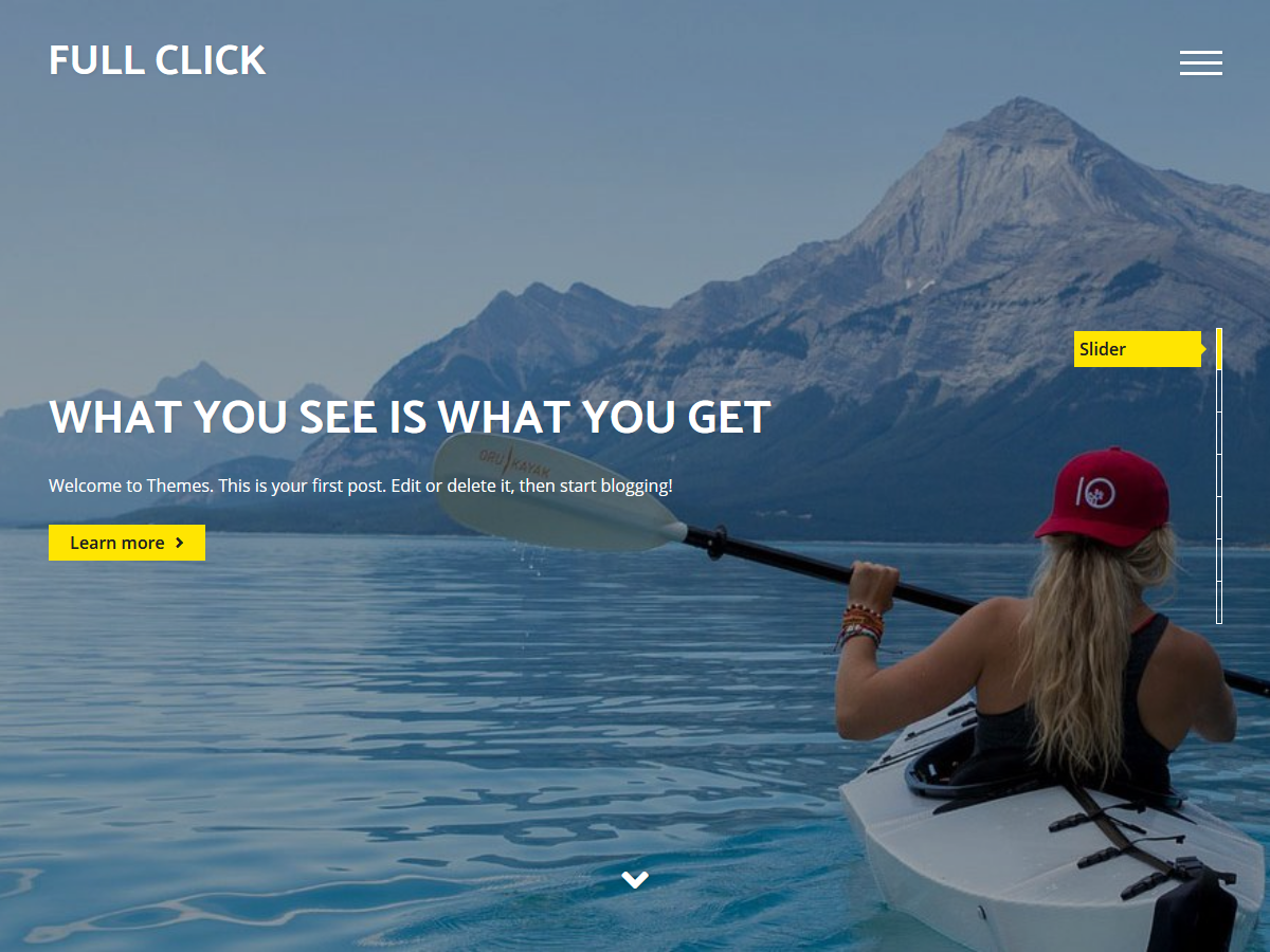 Full Click Preview Wordpress Theme - Rating, Reviews, Preview, Demo & Download