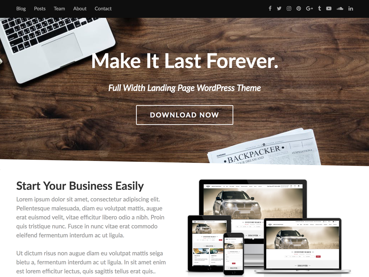 Fullwidther Preview Wordpress Theme - Rating, Reviews, Preview, Demo & Download