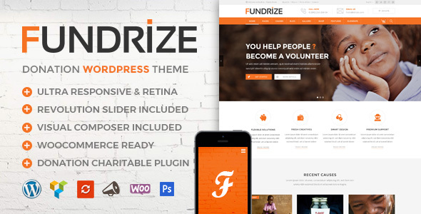 Fundrize Preview Wordpress Theme - Rating, Reviews, Preview, Demo & Download