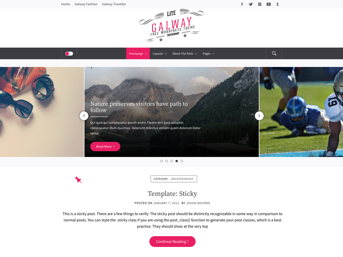 Galway Lite Preview Wordpress Theme - Rating, Reviews, Preview, Demo & Download