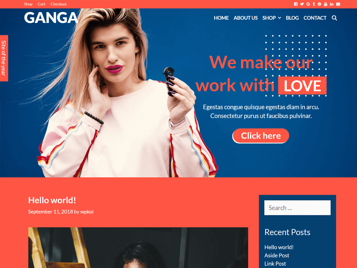 Ganga Preview Wordpress Theme - Rating, Reviews, Preview, Demo & Download