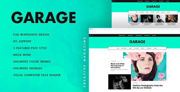 Garage Creative Preview Wordpress Theme - Rating, Reviews, Preview, Demo & Download