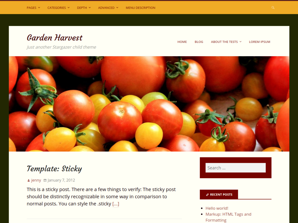 Garden Harvest Preview Wordpress Theme - Rating, Reviews, Preview, Demo & Download