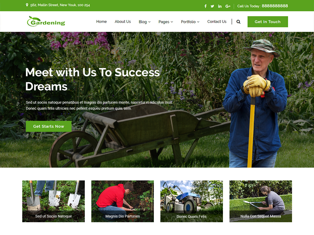 Gardenings Preview Wordpress Theme - Rating, Reviews, Preview, Demo & Download