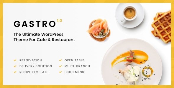 Gastro Preview Wordpress Theme - Rating, Reviews, Preview, Demo & Download