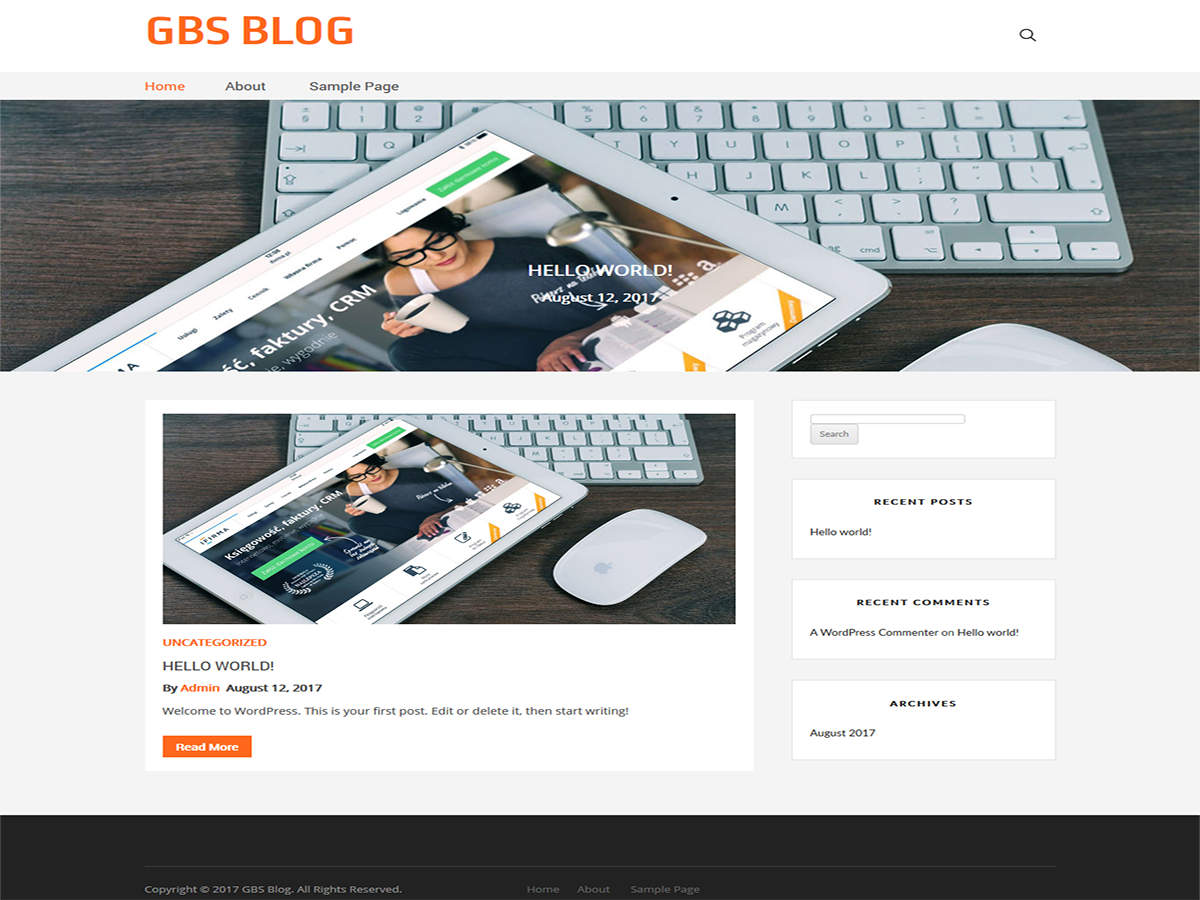 GBS Blog Preview Wordpress Theme - Rating, Reviews, Preview, Demo & Download