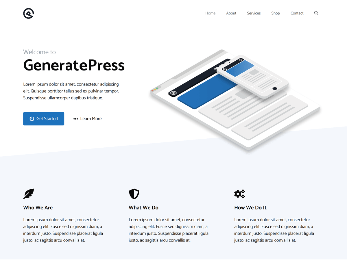 GeneratePress Preview Wordpress Theme - Rating, Reviews, Preview, Demo & Download