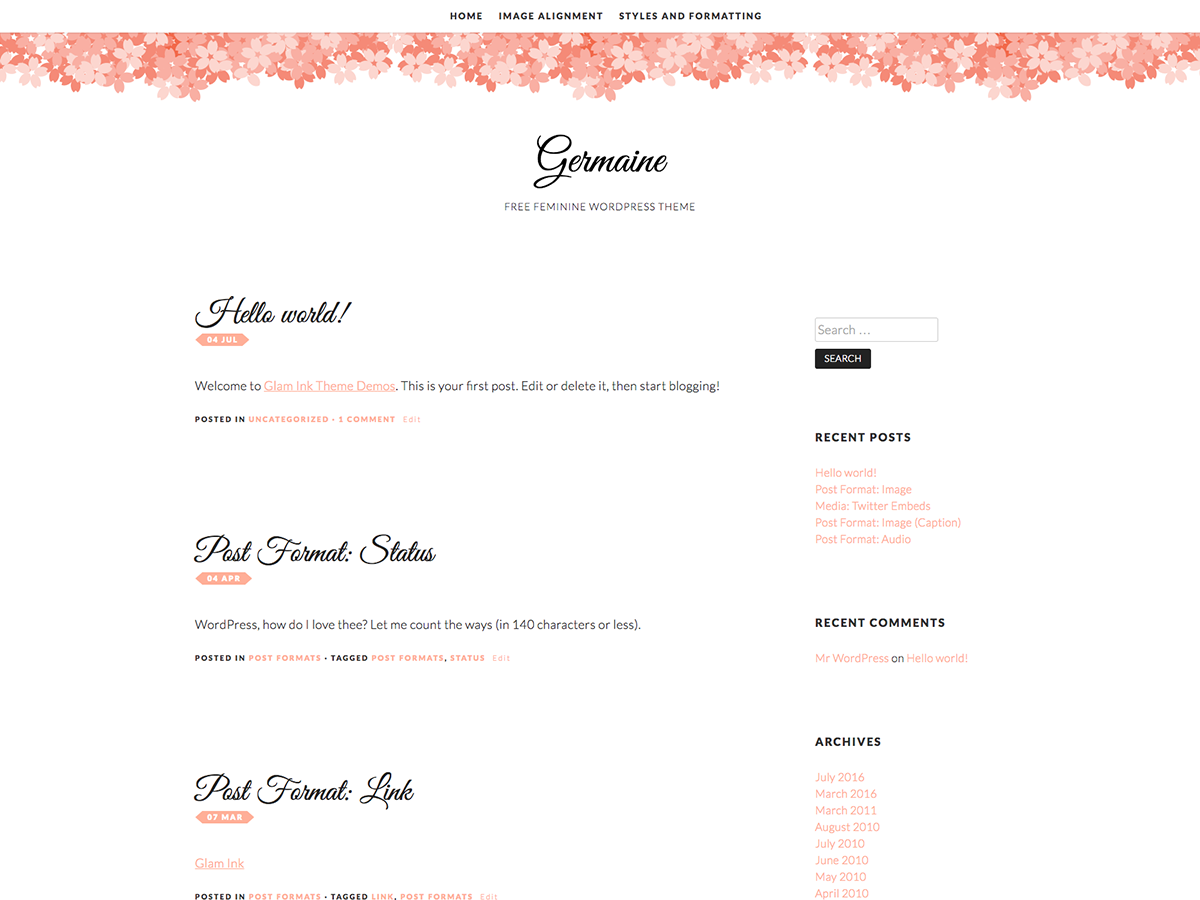 Germaine Preview Wordpress Theme - Rating, Reviews, Preview, Demo & Download