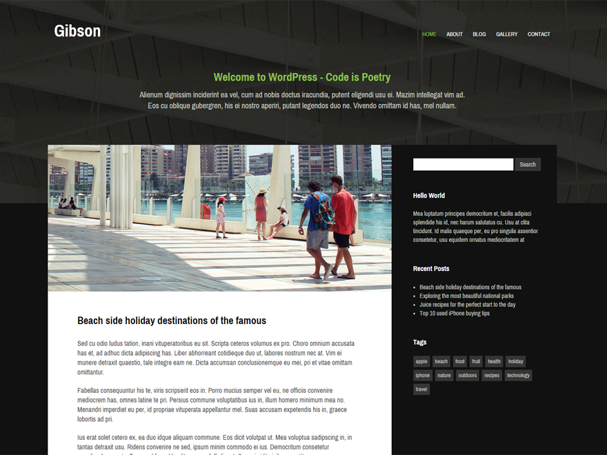 Gibson Preview Wordpress Theme - Rating, Reviews, Preview, Demo & Download