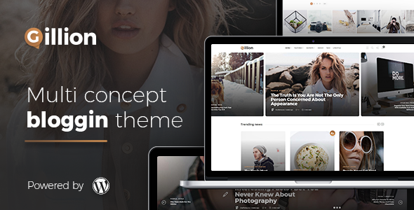 Gillion Multi Preview Wordpress Theme - Rating, Reviews, Preview, Demo & Download