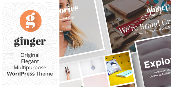 Ginger Preview Wordpress Theme - Rating, Reviews, Preview, Demo & Download