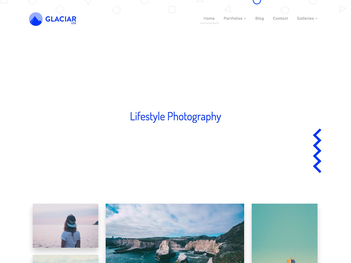 Glaciar Lite Preview Wordpress Theme - Rating, Reviews, Preview, Demo & Download