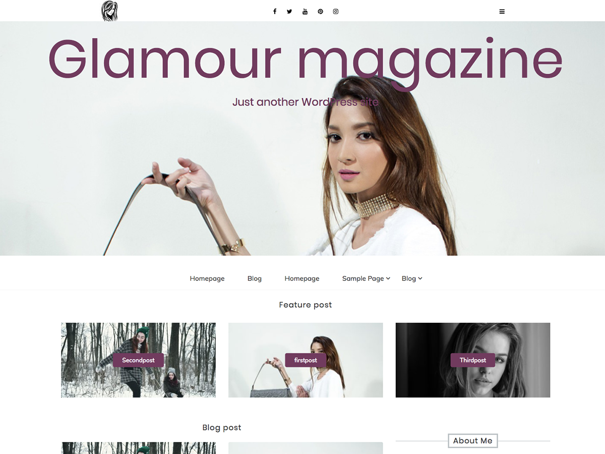 Glamour Magazine Preview Wordpress Theme - Rating, Reviews, Preview, Demo & Download