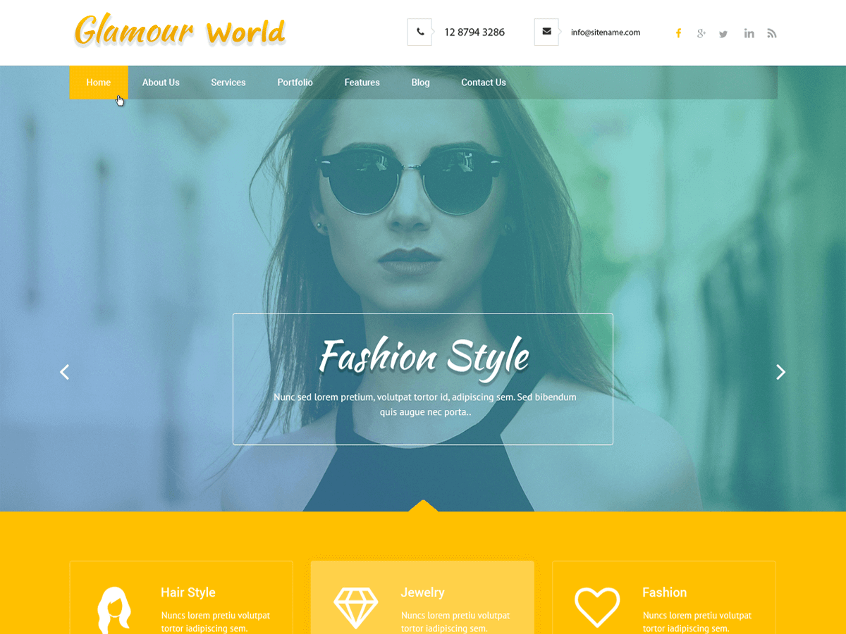 Glamour World Preview Wordpress Theme - Rating, Reviews, Preview, Demo & Download
