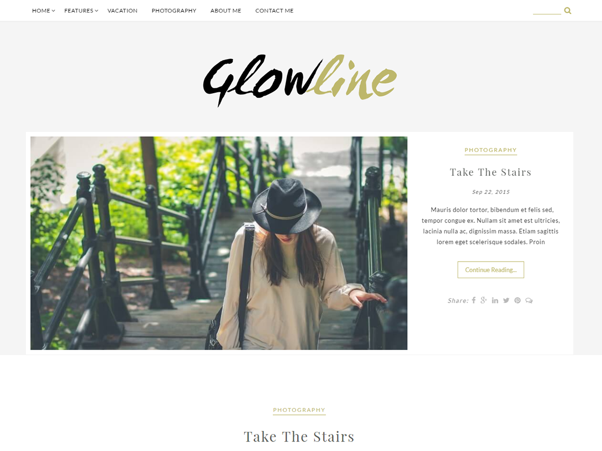GlowLine Preview Wordpress Theme - Rating, Reviews, Preview, Demo & Download