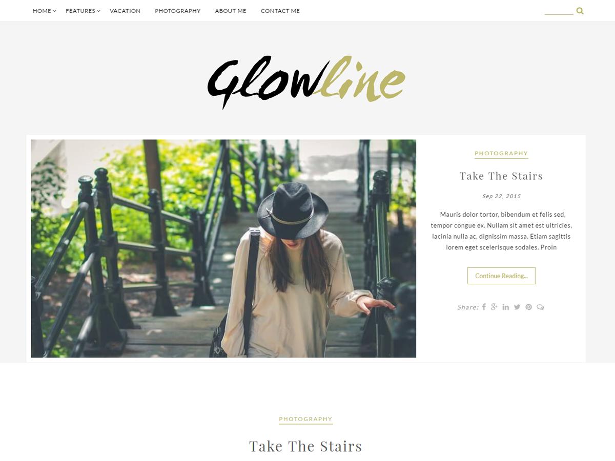 GlowLine Preview Wordpress Theme - Rating, Reviews, Preview, Demo & Download