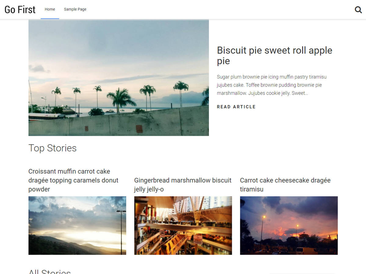 Go First Preview Wordpress Theme - Rating, Reviews, Preview, Demo & Download