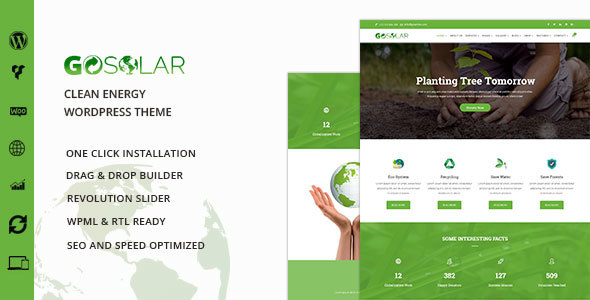 Go Solar Preview Wordpress Theme - Rating, Reviews, Preview, Demo & Download