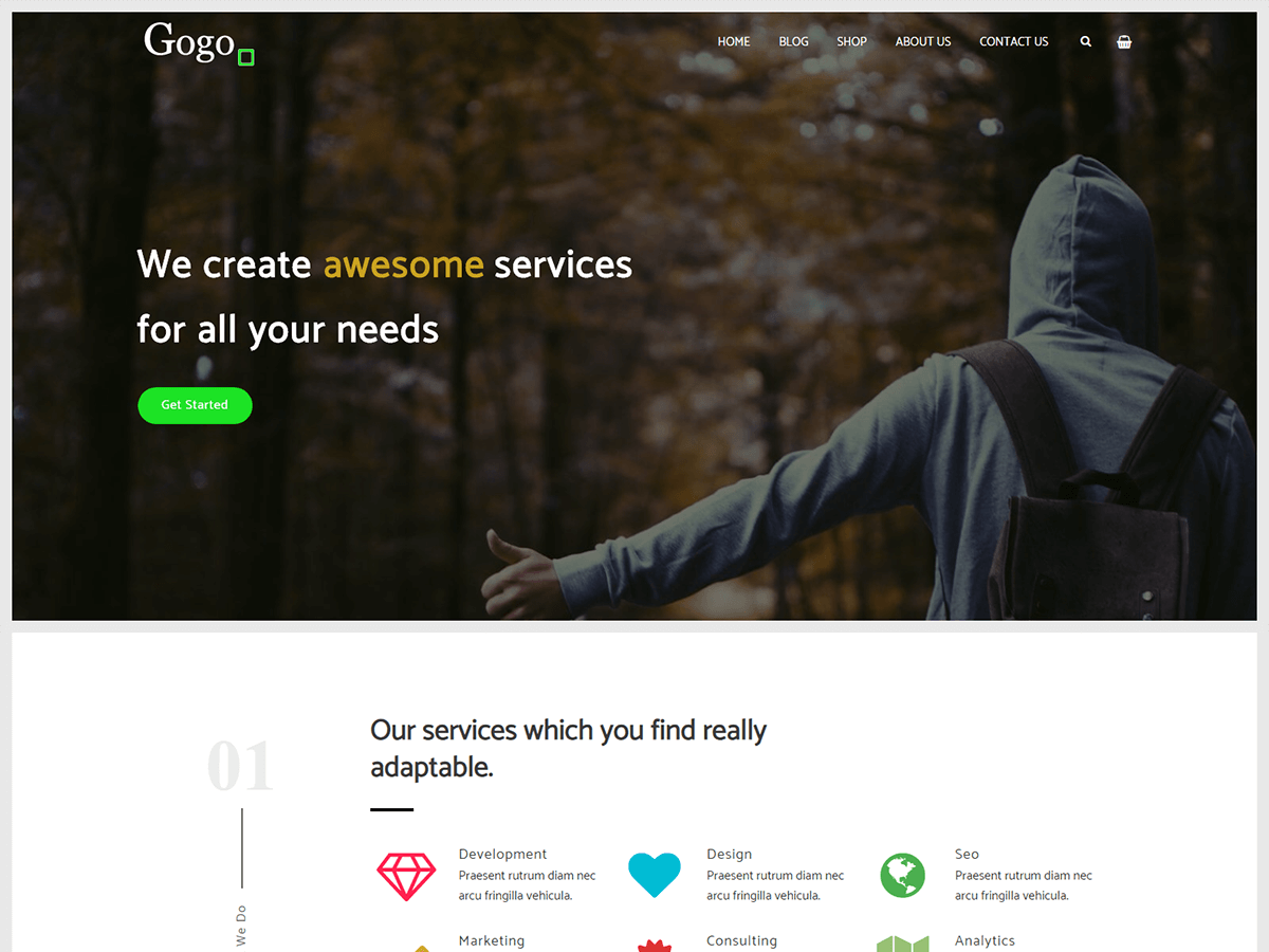 Gogo Preview Wordpress Theme - Rating, Reviews, Preview, Demo & Download