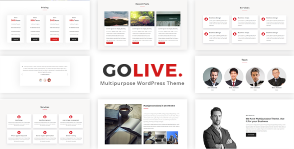 GoLive Preview Wordpress Theme - Rating, Reviews, Preview, Demo & Download
