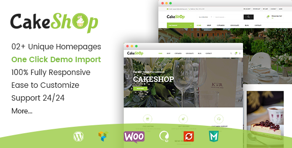 Gon CakeShop Preview Wordpress Theme - Rating, Reviews, Preview, Demo & Download