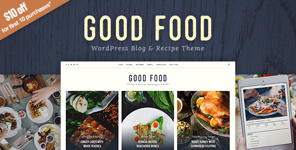 Good Food Preview Wordpress Theme - Rating, Reviews, Preview, Demo & Download