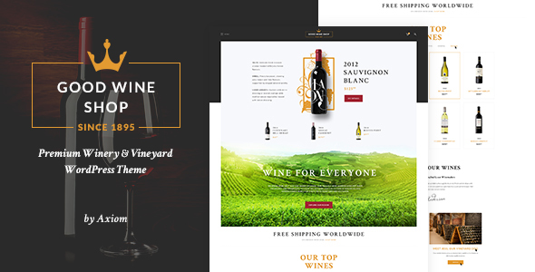 Good Wine Preview Wordpress Theme - Rating, Reviews, Preview, Demo & Download
