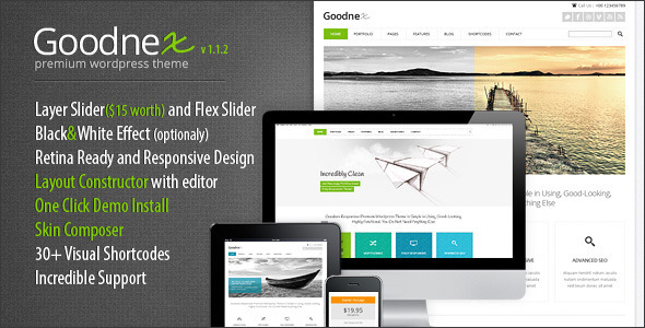 Goodnex Premium Preview Wordpress Theme - Rating, Reviews, Preview, Demo & Download