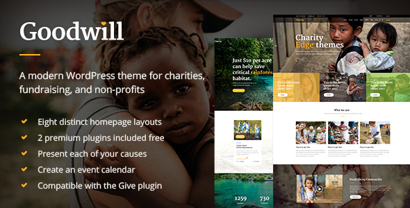 Goodwill Preview Wordpress Theme - Rating, Reviews, Preview, Demo & Download