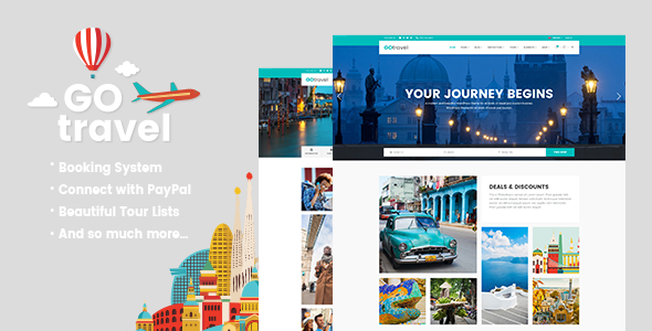 GoTravel Preview Wordpress Theme - Rating, Reviews, Preview, Demo & Download