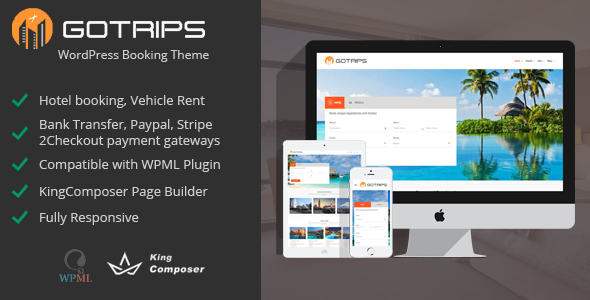 Gotrips Preview Wordpress Theme - Rating, Reviews, Preview, Demo & Download