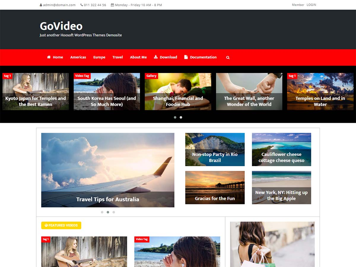 GoVideo Preview Wordpress Theme - Rating, Reviews, Preview, Demo & Download