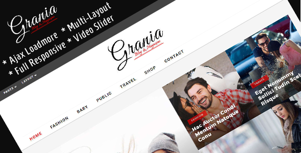 Grania Preview Wordpress Theme - Rating, Reviews, Preview, Demo & Download