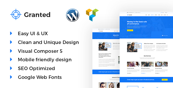 Granted Preview Wordpress Theme - Rating, Reviews, Preview, Demo & Download