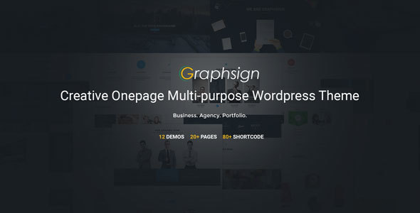 Graphsign Preview Wordpress Theme - Rating, Reviews, Preview, Demo & Download