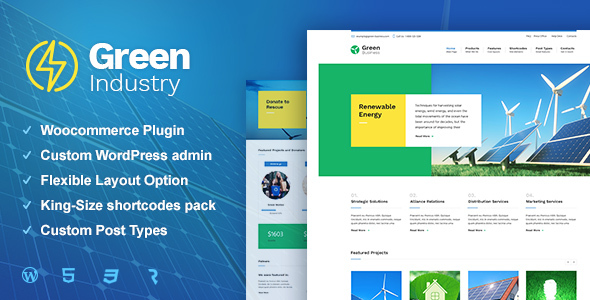 Green Industry Preview Wordpress Theme - Rating, Reviews, Preview, Demo & Download