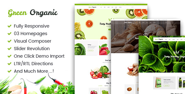 Green Organic Preview Wordpress Theme - Rating, Reviews, Preview, Demo & Download