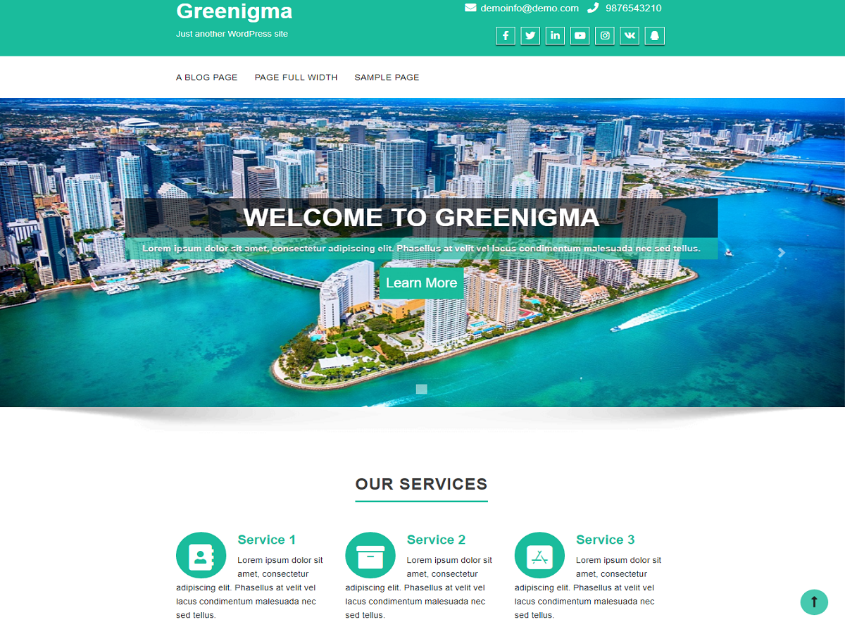 Greenigma Preview Wordpress Theme - Rating, Reviews, Preview, Demo & Download