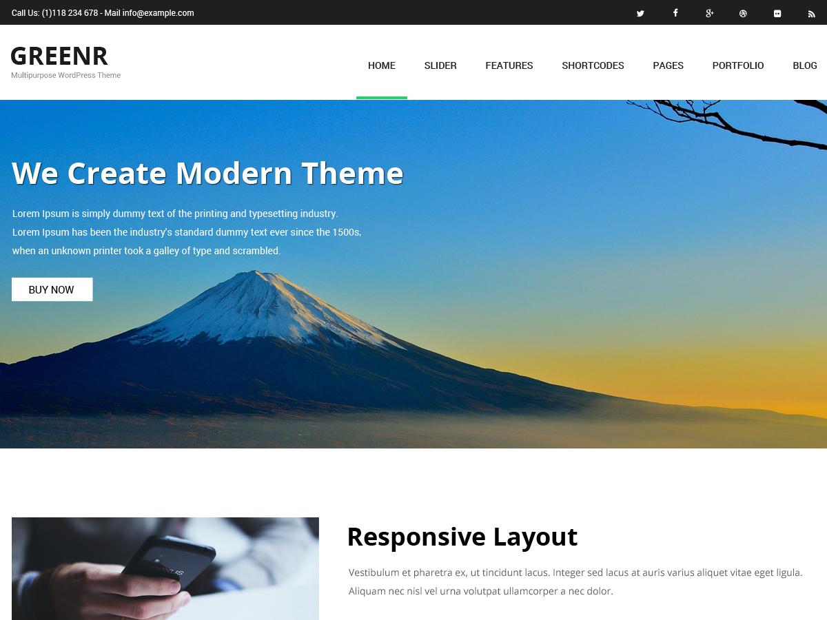 Greenr Preview Wordpress Theme - Rating, Reviews, Preview, Demo & Download