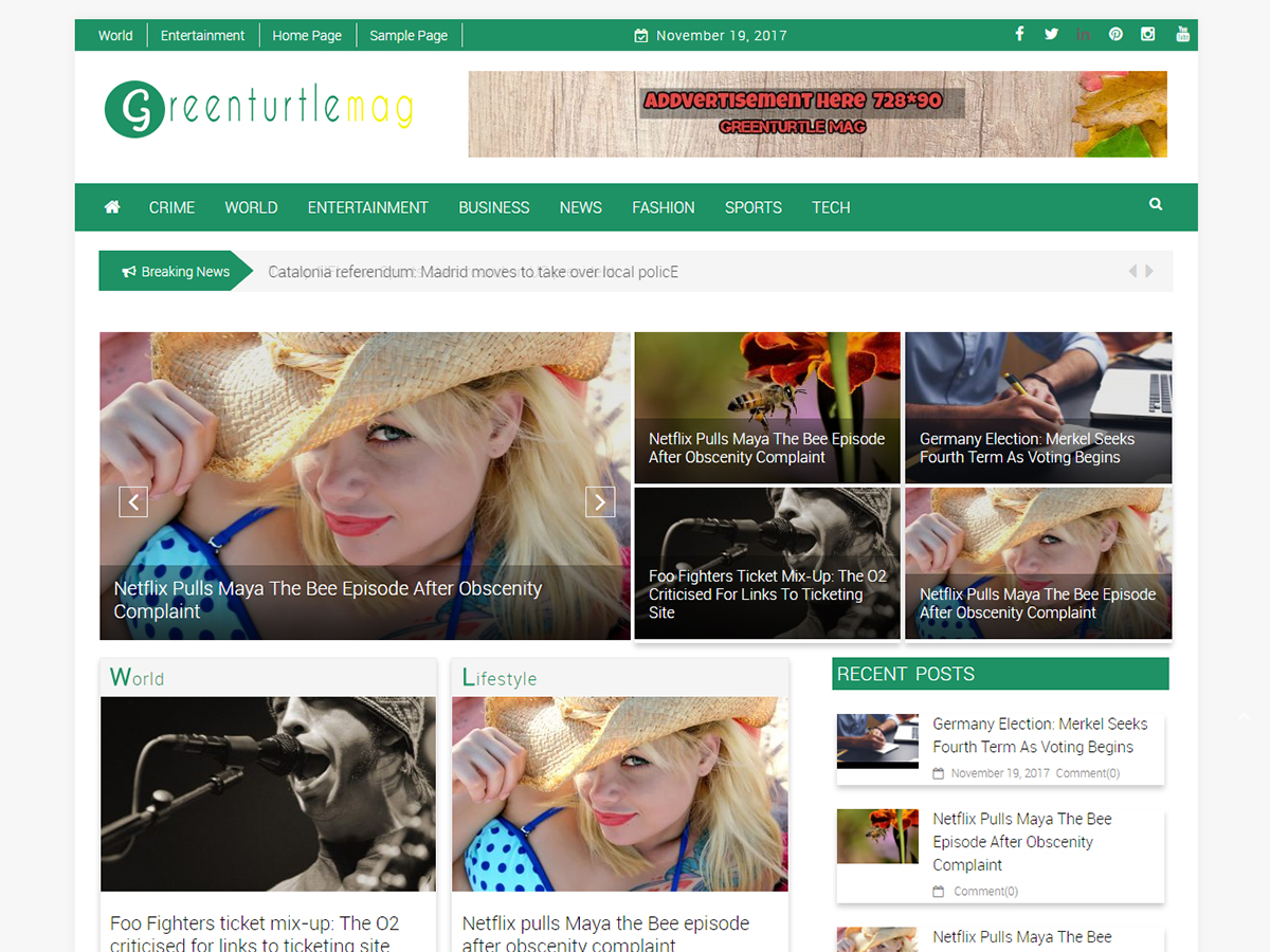 Greenturtle Mag Preview Wordpress Theme - Rating, Reviews, Preview, Demo & Download