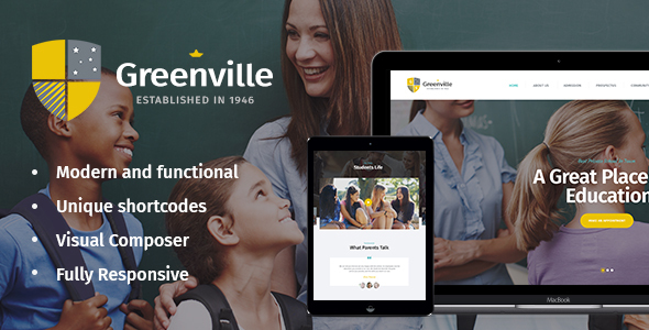 Greenville Preview Wordpress Theme - Rating, Reviews, Preview, Demo & Download