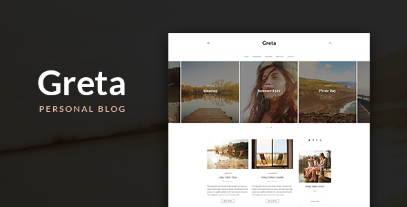 Greta Preview Wordpress Theme - Rating, Reviews, Preview, Demo & Download