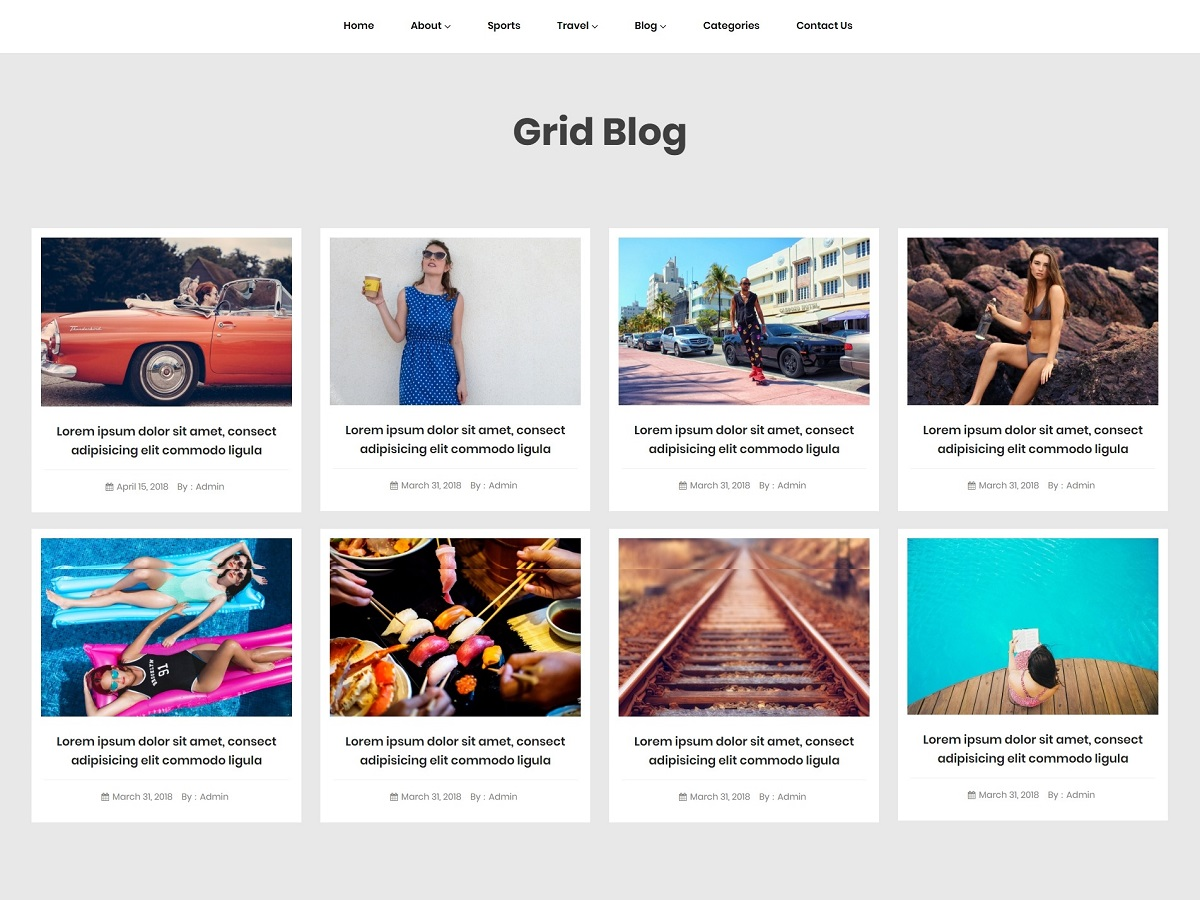 Grid Blogger Preview Wordpress Theme - Rating, Reviews, Preview, Demo & Download