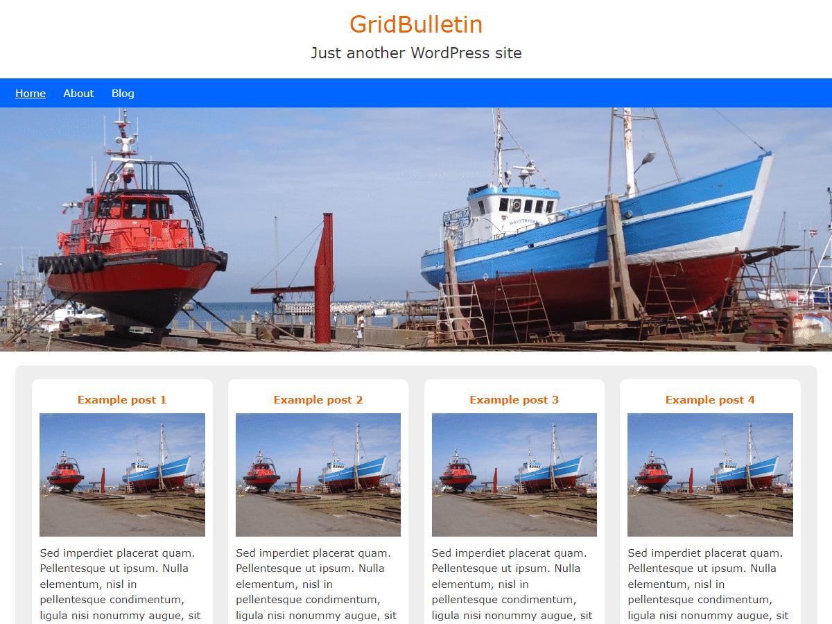 GridBulletin Preview Wordpress Theme - Rating, Reviews, Preview, Demo & Download
